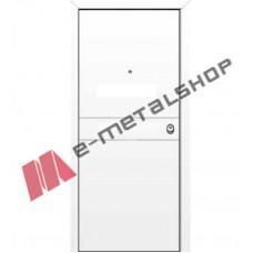 Θωρακισμένη πόρτα ασφαλείας αλουμινίου (πλάτος 90-110cm / ύψος 203-220cm) SAFEBOND BO 305