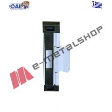 Κλειδαριά CAL Doublex Classic για συρόμενα κουφώματα για πόρτες και παράθυρα (λευκό-μαύρο)