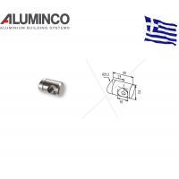Σύνδεσμος κολώνας F50-100 για κάγκελα αλουμινίου τύπου INOX Aluminco 4312