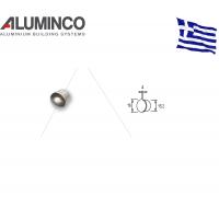 Τάπα για προφίλ για κάγκελα αλουμινίου τύπου INOX F50-300 Aluminco 4438