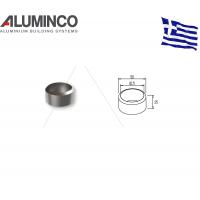 Αρμοκάλυπτρο κολώνας Φ42 για κάγκελα αλουμινίου τύπου INOX F50-100 Aluminco 4510
