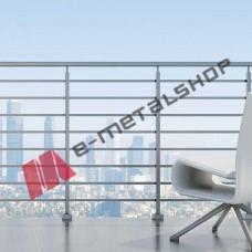 Κάγκελα αλουμινίου τύπου INOX F50 Accord Square Aluminco (τιμή τρέχοντος μέτρου)