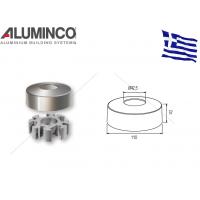 Πέλμα στήριξης για κολώνα αλουμινίου τύπου Inox Φ42 Aluminco 4121