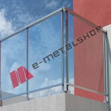 Κάγκελα αλουμινίου τύπου INOX F50 Frame Aluminco (τιμή τρέχοντος μέτρου)