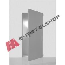 Πόρτα αποθήκης Interno by Alumil σε χρώμα γκρί (RAL 7035)