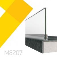 Σύστημα επιδαπέδιας στήριξης υαλοπίνακα Alumil Smartia M8207 ( τιμή τρέχοντος μέτρου)