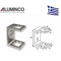 Εξωτερικό στήριγμα κολώνας 40x40 Aluminco F50 4139