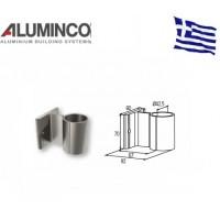 Επιτοίχιο στήριγμα κολώνας Φ42 για κάγκελα αλουμινίου τύπου INOX F50 Aluminco 4166