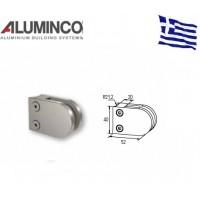 Στήριγμα τζαμιού 6-8mm κολόνας Φ42 Aluminco Inox 304 F50 4172