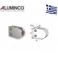 Στήριγμα τζαμιού 8-10mm κολόνας Φ42 Aluminco Inox 304 F50 4173