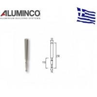 Ενδοδαπέδιο στήριγμα κολώνας F50-102 για κάγκελα αλουμινίου τύπου INOX Aluminco 4188