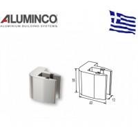 Στήριγμα τζαμιού μονό 8-10mm για κολώνα F50-102 Aluminco 4189