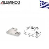 Γωνία σύνδεσης 90 μοιρών κουπαστής F50-201 Aluminco 4250