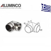 Γωνιακός σύνδεσμος 90 μοιρών κουπαστής F50-200 Aluminco 4256