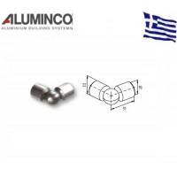 Σύνδεσμος μεταβλητής γωνίας για προφίλ Φ16 Aluminco 4302