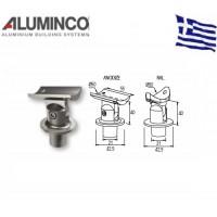 Στήριγμα κουπαστής Φ50 με κολόνα Φ42 Aluminco 4316