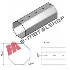 Οκτάγωνος άξονας για ρολά, γαλβανιζέ 70mm (Φ70) , πάχους 1,2mm (Τιμή μέτρου)