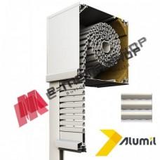 Ρολό αλουμινίου βαρέως τύπου μεγάλης διάτρησης  303013 Alumil Smartia 13700 120x220