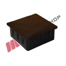 Πλαστική τετράγωνη τάπα για κοιλοδοκούς 25x25mm