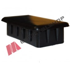 Πλαστική παραλληλόγραμμη τάπα για σωλήνες και κοιλοδοκούς 38x20mm