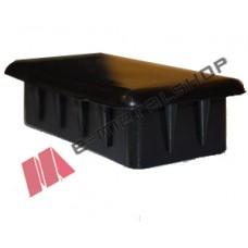 Πλαστική παραλληλόγραμμη τάπα για σωλήνες και κοιλοδοκούς 40x20mm