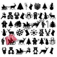 Χριστουγεννιάτικα στολίδια SDC-18 (5 τεμάχια)