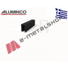 ΛΑΣΤΙΧΟ ΣΦΗΝΑ ΟΔΗΓΟΥ ΤΥΠΟΥ U ΓΙΑ ΤΖΑΜΙ 11.52mm Aluminco 4911 (τιμή μέτρου)