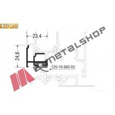 Νεροχύτης M19860 σειράς Μ9660 Smartia Alumil 2m
