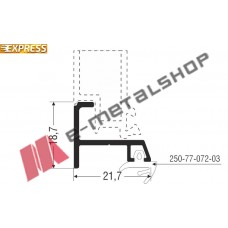 Πρόσθετο S77072 σειράς S67 Smartia Alumil 3m