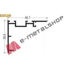 Γάντζος M9203 σειράς Μ9200 Comfort Alumil 6m