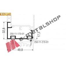 Πρόσθετο αλουμινίου M9431της σειράς M9400 Comfort Alumil 6m