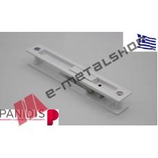 Κλειδαριά με χούφτα για συρόμενα KS-900 MAKEDONIKI λευκή