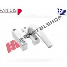 Χειρολαβή για μικρά παράθυρα X-505 MAKEDONIKI λευκή (χεράκι μπάνιο wc)