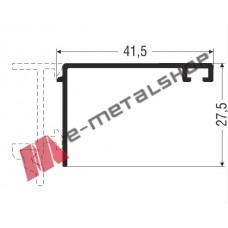 Αρμοκάλυπτρο ίσιο M6041 Alumil 6m