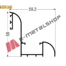 Πρόσθετο M9223 Μ9200 Comfort Alumil 5m