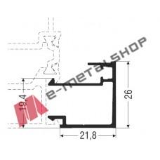Πηχάκι ίσιο M11453 Smartia Alumil 6m