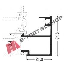 Πηχάκι ίσιο M15110 Alumil 6m