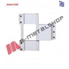 Μάσκουλο τριπλό INOX πυρο(ενισχυμένο κουμπωτό)λαμπάς 160mm Security Lock 504-1 λευκό