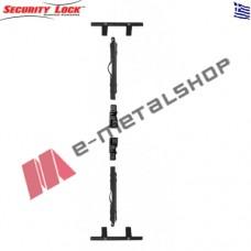 Κιτ πάνω-κάτω ή κάσα φύλλο (τζάμι-παντζούρι) Security Lock 612 μαύρο