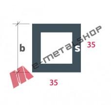 Σωληνωτό τετράγωνο(καρέ) S-35x35 Alumil 5m λευκό
