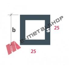 Σωληνωτό τετράγωνο(καρέ) S-25x25 Alumil 6m λευκό