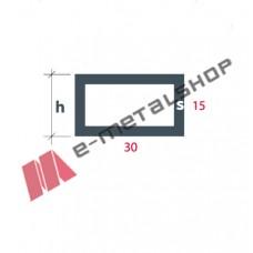 Σωληνωτό Ορθογώνιο(καρέ) S-30x15 Alumil 5m λευκό