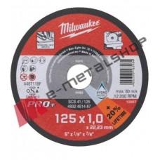 Δίσκος κοπής INOX 125x1 Milwaukee