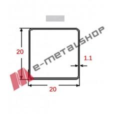 Στραντζαριστό 20x20x1.1mm Γαλβανιζέ απλού τύπου 5m