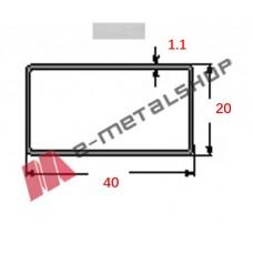 Στραντζαριστό 40x20x1.1mm Γαλβανιζέ απλού τύπου 5m