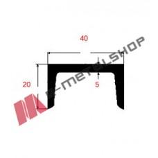 Π UPN Μαύρο 40x20x5mm 6m