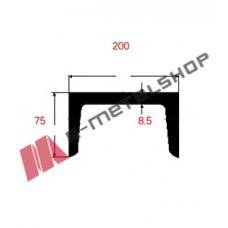 Π UPN Μαύρο 200x75x8.5mm 6m