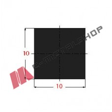 Μασίφ Τετράγωνο Μαύρο 10x10 6m (Φ10)