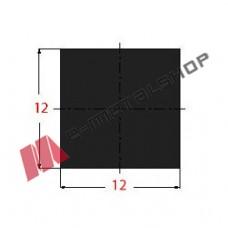 Μασίφ Τετράγωνο Μαύρο 12x12 6m (Φ12)
