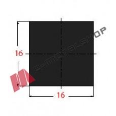 Μασίφ Τετράγωνο Μαύρο 16x16 6m (Φ16)